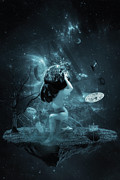 Surreal Art Photos - World on my shoulders by Erik Brede