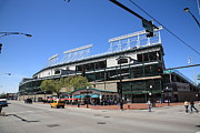 Cubs Baseball Park Prints - Wrigley Field - Chicago Cubs Print by Frank Romeo