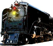 Steam Locomotives Digital Art Posters - X-844 Poster by Jerry Gose Jr