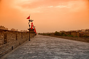 Great Wall Photos - XiAn City Wall China by Fototrav Print