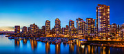 Blue Hour Framed Prints - Yaletown from Cambie Bridge Framed Print by Alexis Birkill
