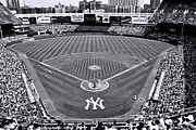 Baseball Stadiums Framed Prints - Yankee Stadium Framed Print by Allen Beatty