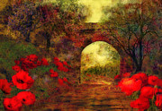 Kelly Digital Art Posters - Ye olde railway bridge Poster by Valerie Anne Kelly