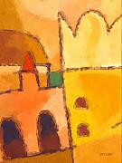 African Art Paintings - Yellow Impression by Lutz Baar