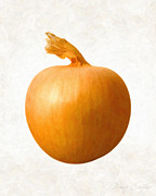 Organic Paintings - Yellow Onion  by Danny Smythe
