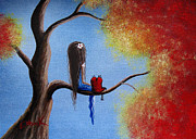 Red Heart Paintings - You Make My World A Better Place by Shawna Erback by Shawna Erback