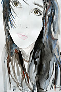 Ismeta Metal Prints - Young Girl Metal Print by Ismeta Gruenwald
