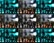 Chess Set Prints - Your Move Print by Camille Lopez
