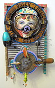 Whimsical Sculpture Metal Prints - Youre Alluring Metal Print by Keri Joy Colestock