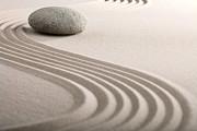 Zen Sand Stone Garden Print by Dirk Ercken