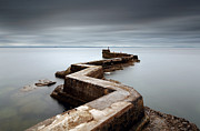 North Sea Prints - Zig-zag pier Print by Grant Glendinning