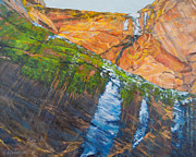 Zion National Park Painting Prints - Zion Print by Kerima Swain