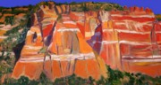 Abstract Realist Landscape Art - Zuni Pueblo by Chris  Easley