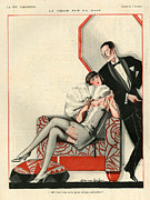 Mens Drawings Prints - 1920s France La Vie Parisienne Print by The Advertising Archives