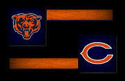 Sports Greeting Cards Framed Prints - Chicago Bears Framed Print by Joe Hamilton
