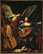 Lute Prints - Italy, Lazio, Rome, National Gallery Print by Everett