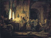Parable Framed Prints - Rembrandt, Harmenszoon Van Rijn, Called Framed Print by Everett