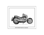Dirt Drawings - 2000 Yamaha Road star Compeition by Jack Pumphrey