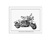 Framed Art Originals - 2000 Yamaha Super Production by Jack Pumphrey