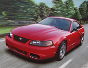 2001 Framed Prints - 2001 Ford Mustang Cobra Framed Print by Paul Kuras
