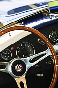 Shelby Cobra Photos - 2001 Shelby Cobra Replica Steering Wheel Emblem by Jill Reger