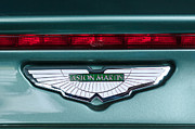 Exotic Metal Prints - 2003 Aston Martin DB AR1 Roadster Emblem Metal Print by Jill Reger