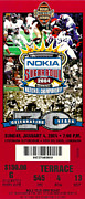 Ticket Prints - 2004 National Championship Ticket - LSU vs Oklahoma Print by David Patterson