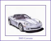 Corvette Drawings - 2005 Corvette by Jack Pumphrey