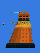 Dr. Who Digital Art Framed Prints - 2005 Dalek Framed Print by John Gaffen
