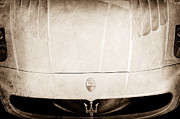 2005 Maserati Mc12 Hood Ornament Print by Jill Reger