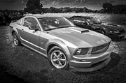 Racer Framed Prints - 2006 Ford Shelby GT Mustang BW Framed Print by Rich Franco