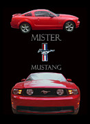 A Posters Digital Art Metal Prints - 2006 Mustang Poster Metal Print by Jack Pumphrey
