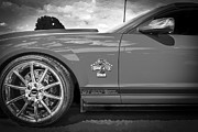 Ale House Posters - 2007 Ford Mustang Shelby GT500 427 BW Poster by Rich Franco