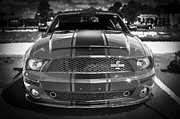 2007 Framed Prints - 2007 Ford Mustang ShelbyGT 500 427 BW Framed Print by Rich Franco