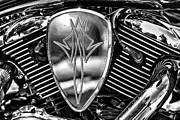 Chopper Prints - 2007 Vulcan 1600 Air Filter Print by Bill Tiepelman