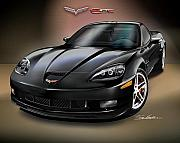 Sports Cars Paintings - 2008 corvette ZR-1 by Danny Whitfield