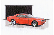 Concept Cars Drawings - 2008 Dodge Challenger Concept by Chris Istenes