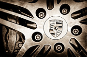 2008 Photos - 2008 Porsche Turbo Cabriolet Wheel Rim Emblem by Jill Reger
