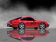 2009 Digital Art Prints - 2009 Porsche Carrera Print by Sylvia Thornton