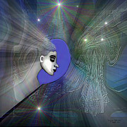 Welch Digital Art - 201 -The Mind  Traveling  through a veil of dreams by Irmgard Schoendorf Welch