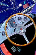 Edition Framed Prints - 2010 Allard J2X Mk II Commemorative Edition Steering Wheel Framed Print by Jill Reger