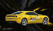 Yellow Cobra Prints - 2010 Camaro Print by Sylvia Thornton
