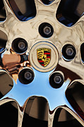 Chrome Prints - 2010 Porsche Panamera Turbo Wheel Print by Jill Reger