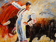 Bullfight Paintings - 2010 Toro Acrylics 04 by Miki De Goodaboom