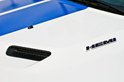 2011 Photo Prints - 2011 Dodge Challenger RT Hemi Hood Emblem Print by Jill Reger