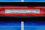 2011 Prints - 2011 Dodge Challenger RT Hemi Taillight Emblem Print by Jill Reger