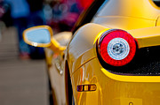 2012 Framed Prints - 2012 Ferrari 458 Spider Taillight Framed Print by Jill Reger