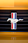 2012 Framed Prints - 2012 Ford Mustang Boss 302 Grille Emblem Framed Print by Jill Reger