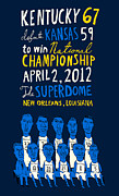 2012 Champions Posters - 2012 Kentucky Wildcats - National Champions - UK Basketball Poster by Jay Perkins
