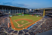 Ballpark Prints - 2012 Marlins Park Print by Mark Whitt